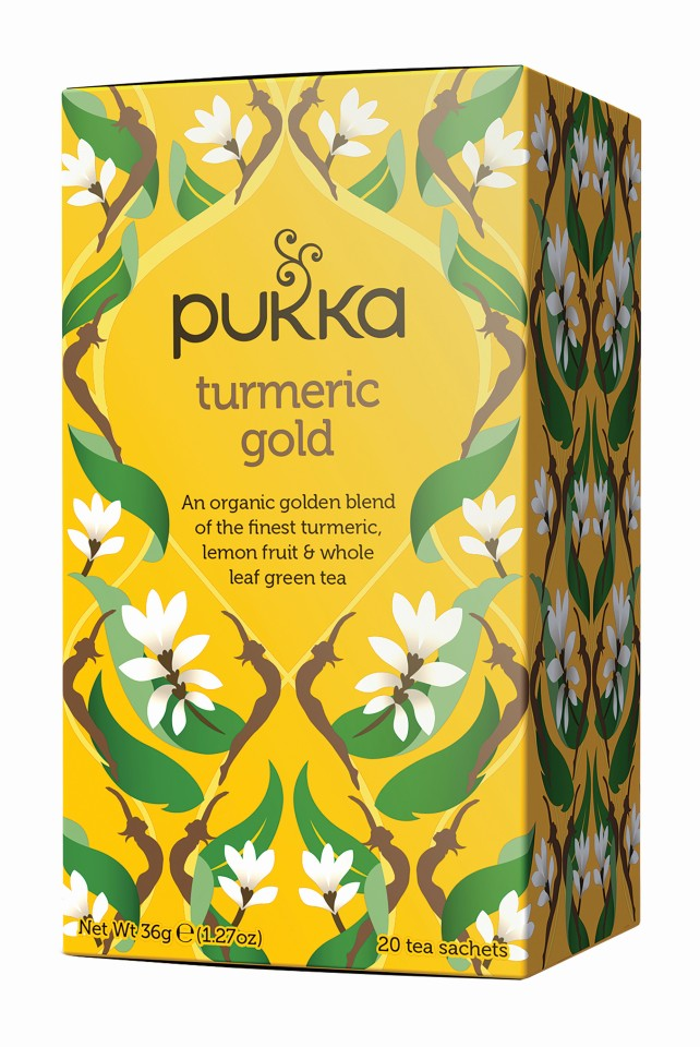 Pukka Tumeric Gold Enveloped Tea Bags 20's