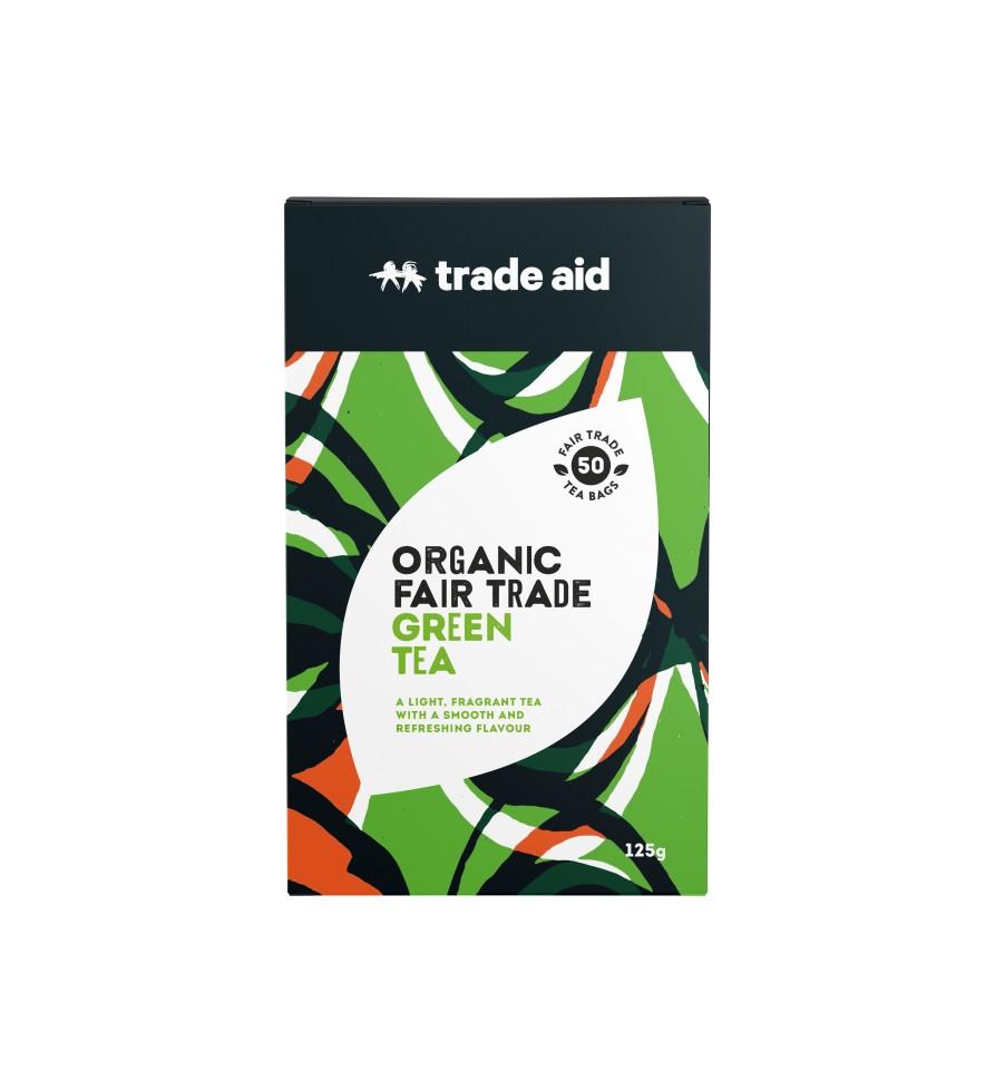 Trade Aid F/T Organic Green Tea Bags Pack of 50
