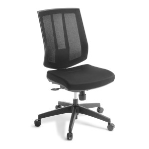 Eden Rally Chair No Arms Black