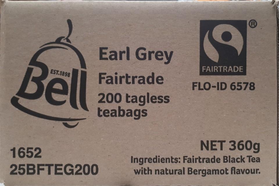 Bell Fair Trade Earl Grey Enveloped Tea Bags Box 200