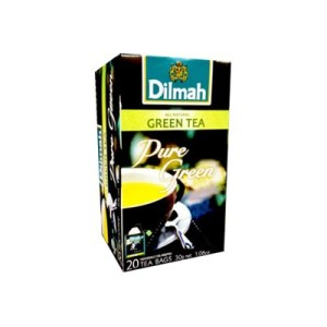 Dilmah Pure Natural Green Foil Enveloped Tagged Teas Bags 20s