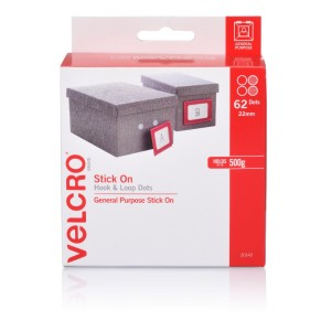 Velcro Brand Hook and Loop Dots 22mm Pack 62