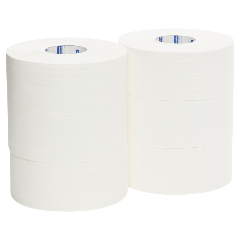 Kleenex Toilet Tissue Roll 2 Ply White 300 meters per Roll 5749 Pack of 6