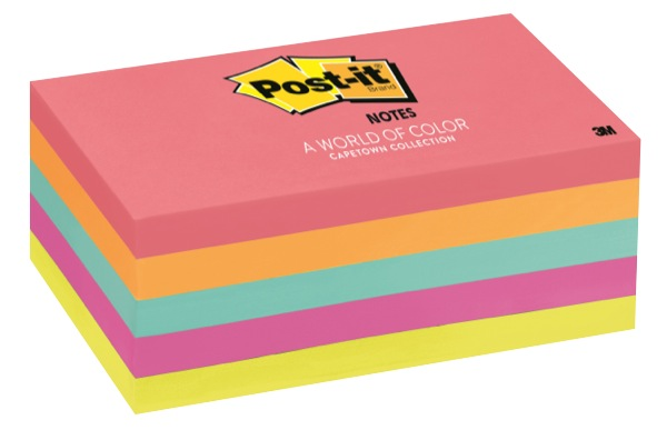Post-It Super Sticky Notes Cape Town Collection 76 x 127mm Pack 5