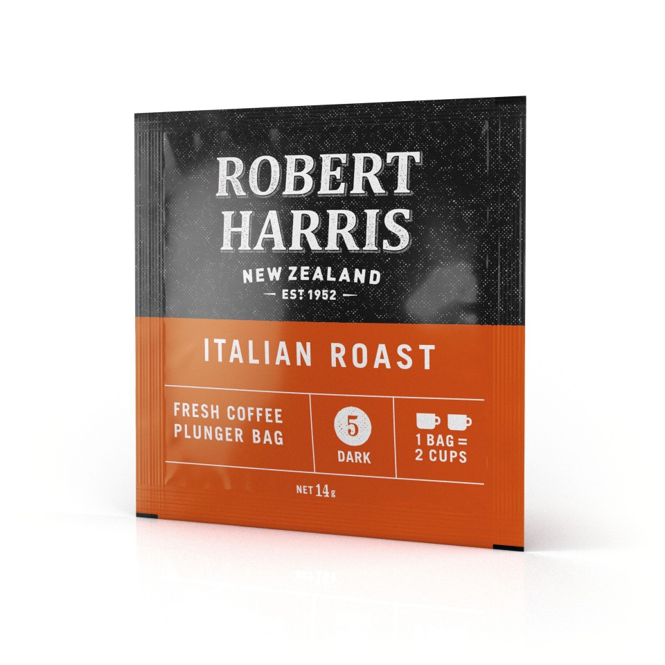 Robert Harris Italian Roast Plunger Bag 14g Box 50
