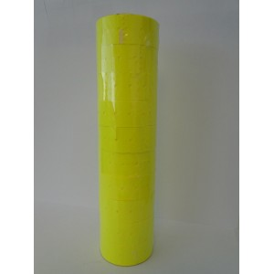 21X12mm Fluoro Yellow Label Permanent Adhesive