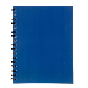 Spirax A5 225x175mm 200 Page Side Opening Hard Cover Notebook Royal Blue