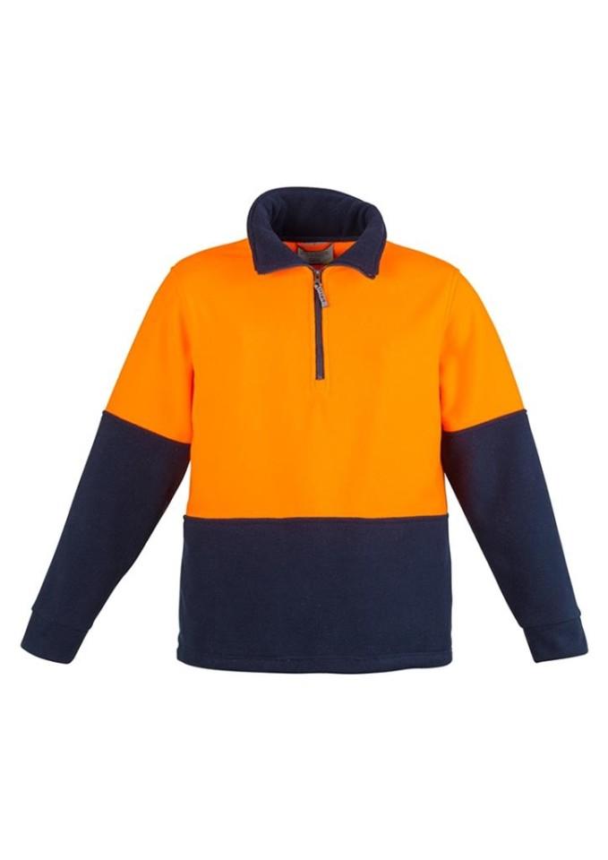 Syzmik Day Only Fleece Jumper Orange/Navy X-Large