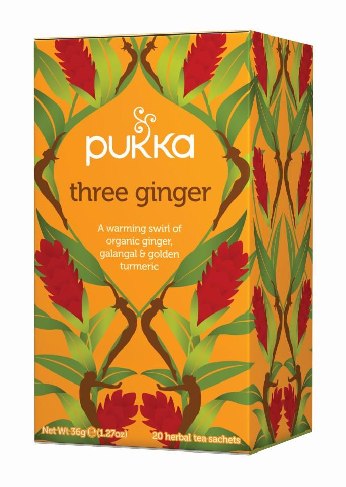 Pukka Three Ginger Enveloped Tea Bags 20's