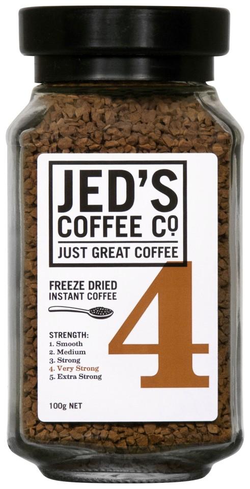 Jed's No. 4 Freeze Dried Instant Coffee Jar 100g