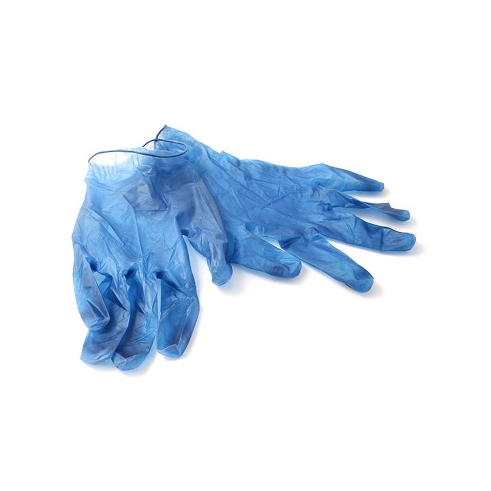Detectable Vinyl Gloves Blue Small Box 100