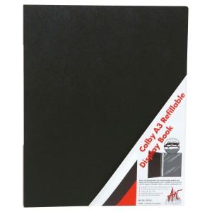 Colby Display Book A3 20 Pocket Black