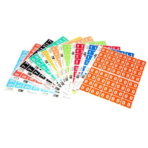 Filecorp C-Ezi Numeric Lateral Labels Number 9 Light Blue 24mm Sheet 40