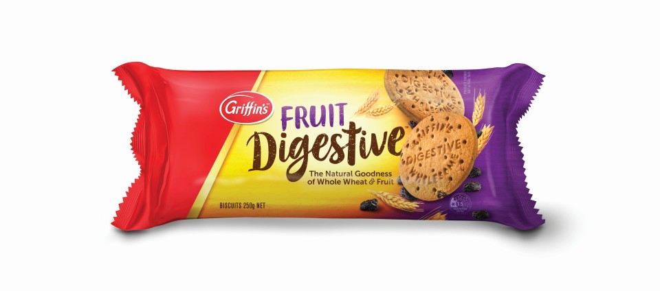 Griffins Digestive Fruit  Biscuits 250g