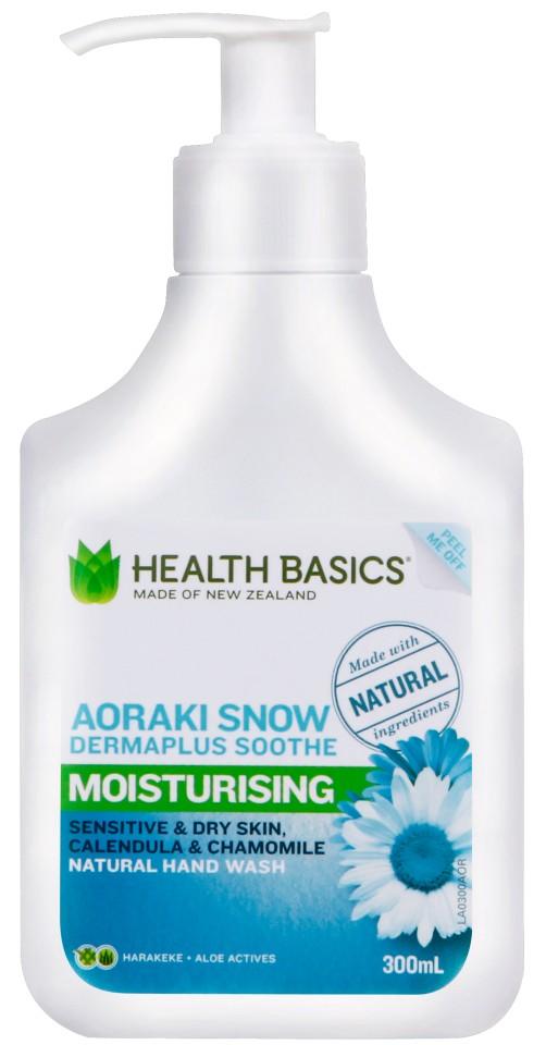 Health Basics Handwash Aoraki Snow Pump 300ml