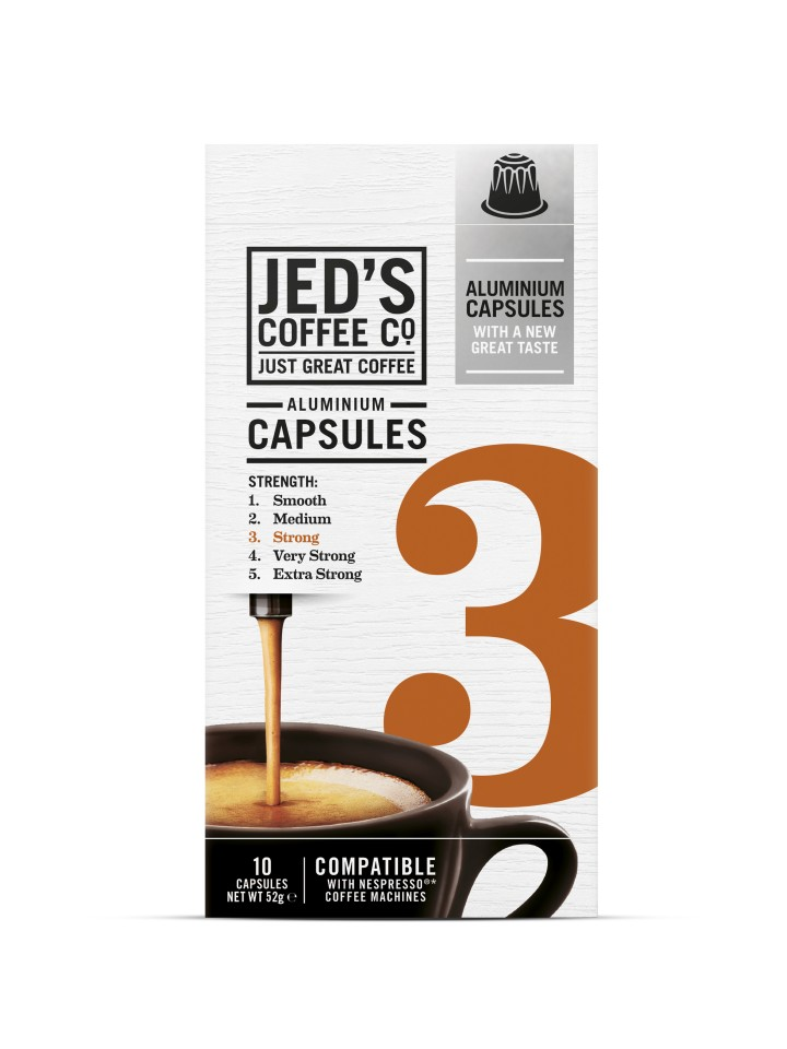 Jed's 3 Strong Coffee Capsules Box 10