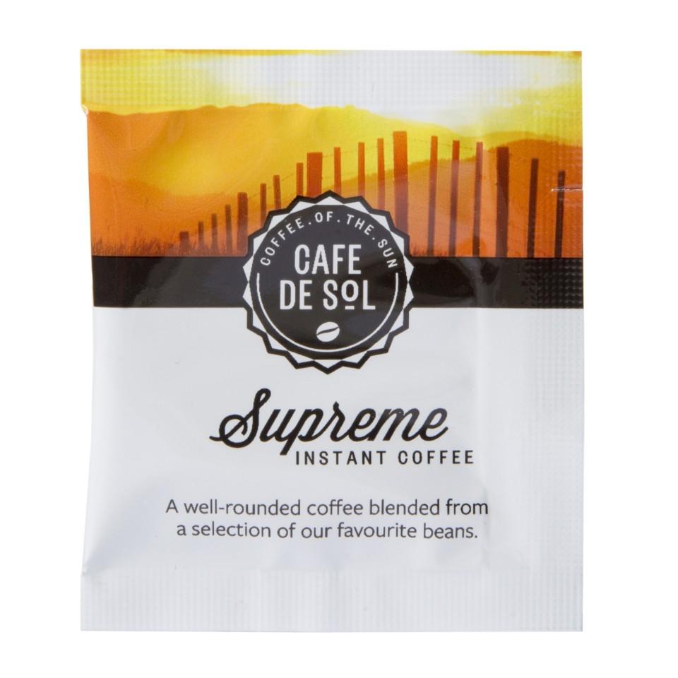 Cafe De Sol Supreme Instant Coffee Sachets Carton 500