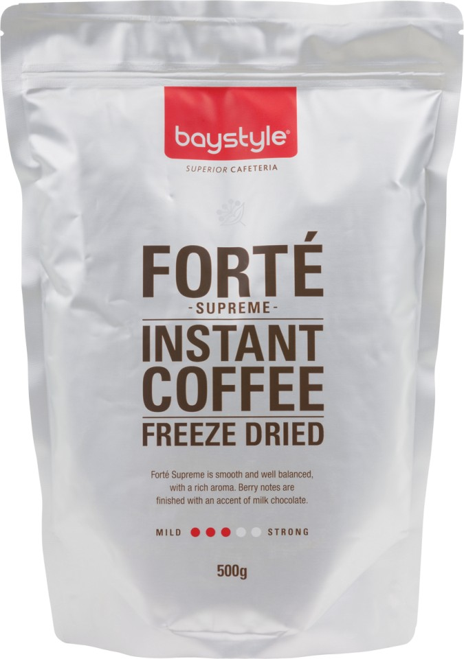 Baystyle Forte Freeze Dried Instant Coffee 500g