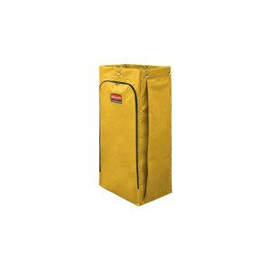 34 Gal Vinyl Bag For High Capacity Janitorial Cleaning Carts Yellow