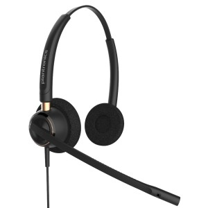 Encorepro Hw520 Over-The-Head Stereo Noise-Cancelling Corded Telephony Headset