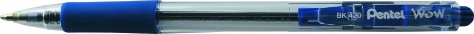 Pentel Wow Ballpoint Pen Retractable 1.0mm BK420 Blue Box 12