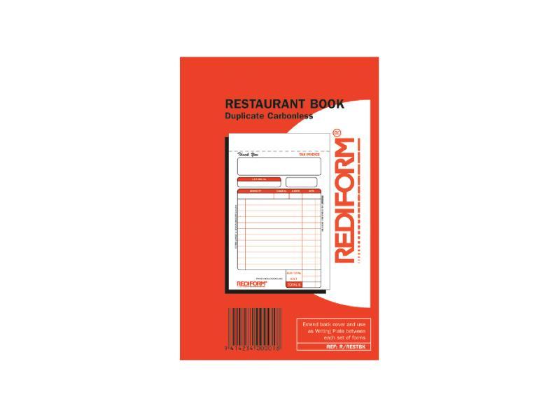 Rediform Duplicate 50Sets Restaurant Book