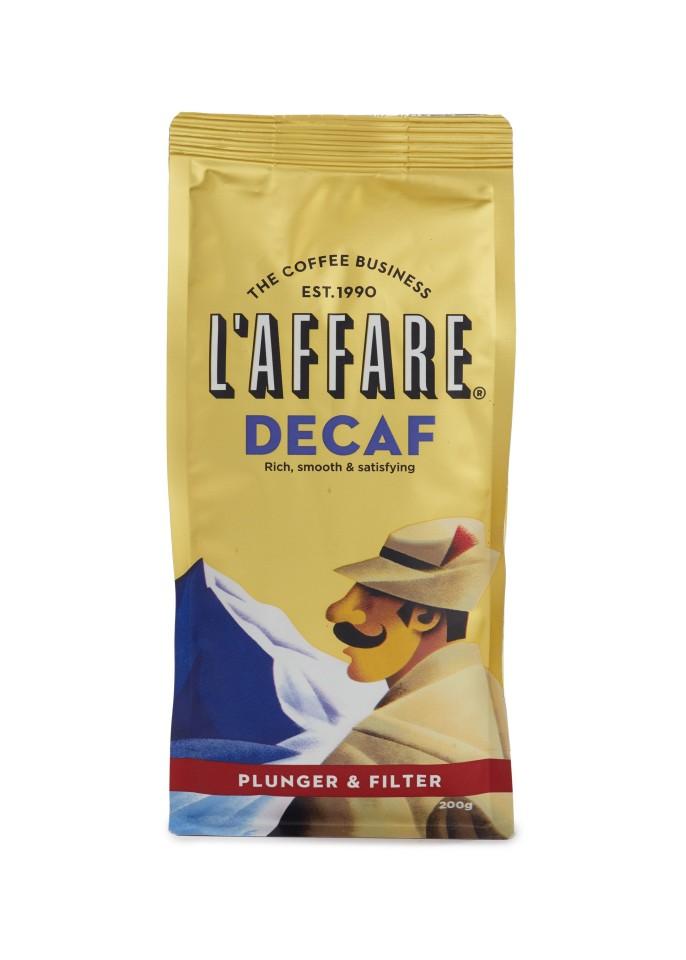 L'affare Decaf Coffee Plunger Filter Grind 200gram