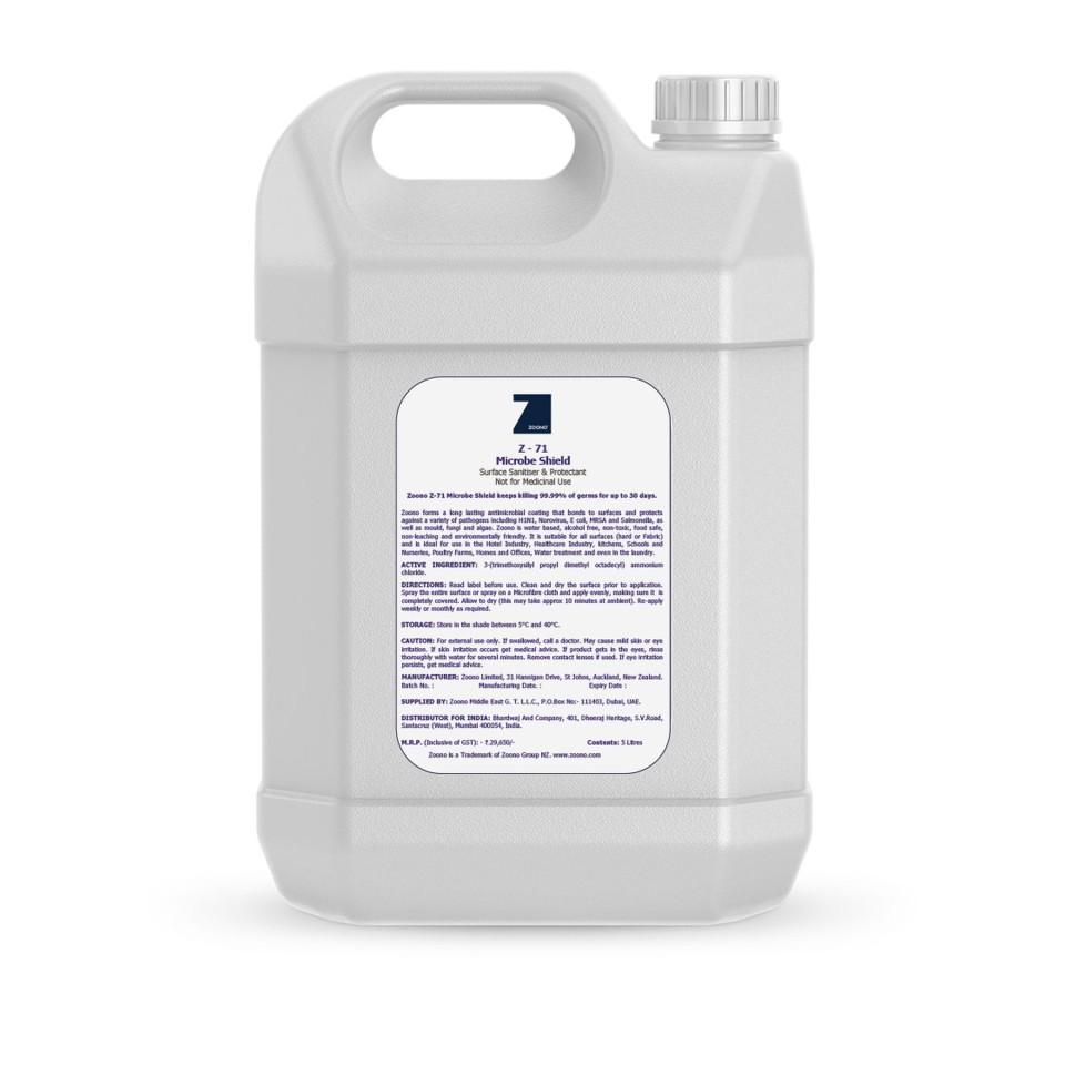 Zoono Microbe Shield All Purpose Spray Refill Bottle 5 Litres