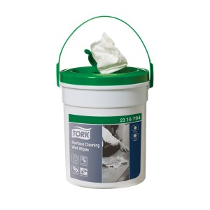 Tork Surface Cleaning Wet Wipes 1 Ply 2316794 White Tub of 72