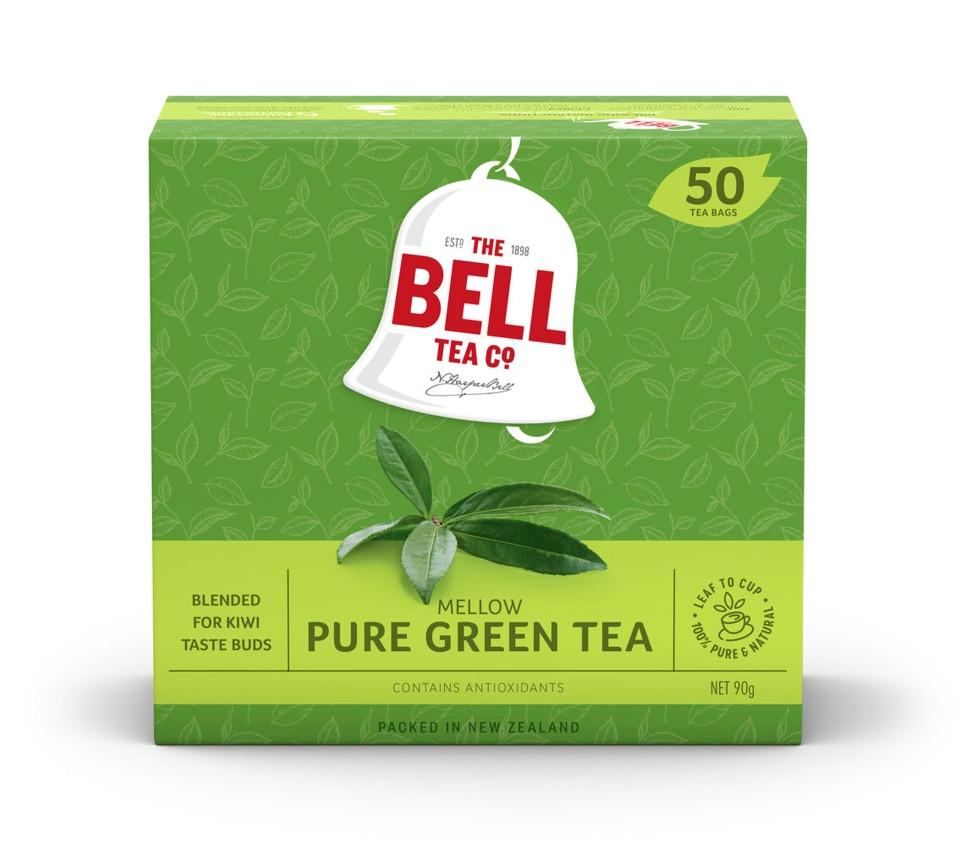 Bell Green Pure Tagless Tea Bags Box 50