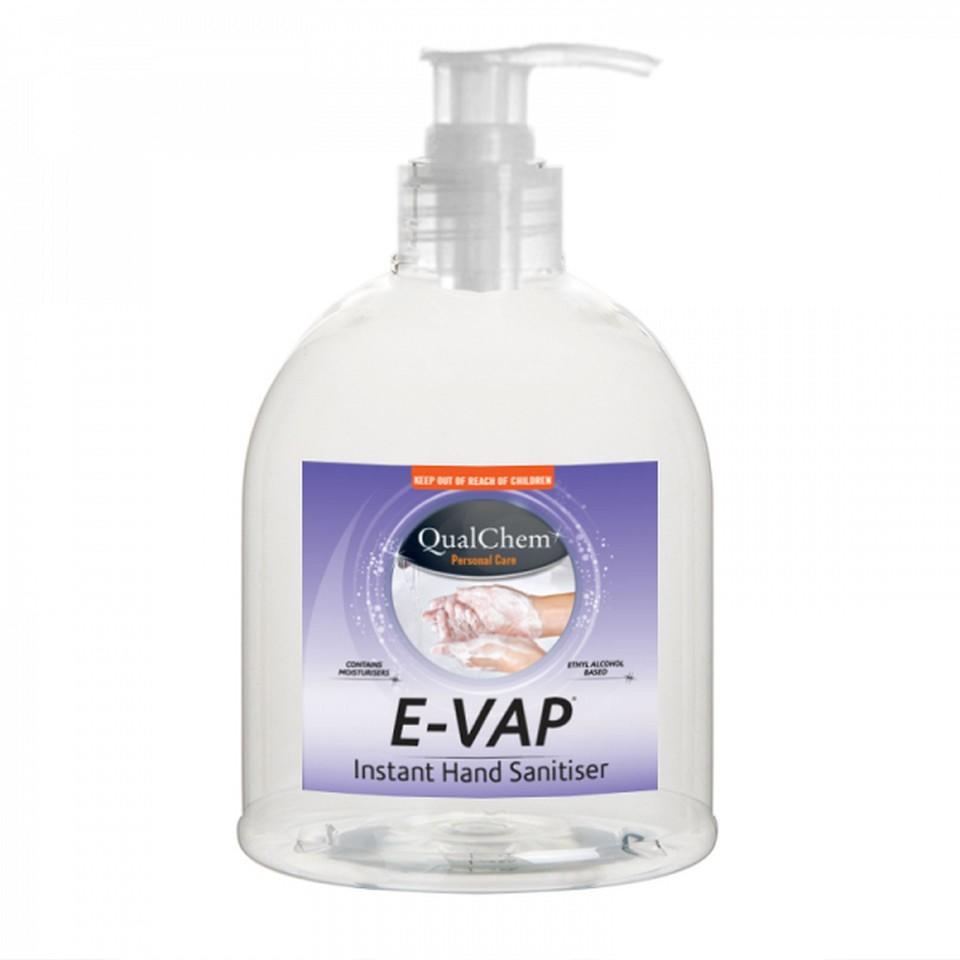 E-vap Hand Sanitiser Pump 485-500ml Bottle