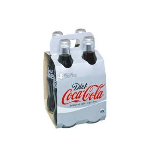 Diet Coca-Cola Glass Pack 4x330ml