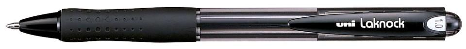 Uni Laknock 1.0mm Retractable Medium Black SN-100