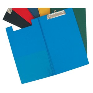 Gbp Fscp PVC Double Clipboard Blue With Pocket