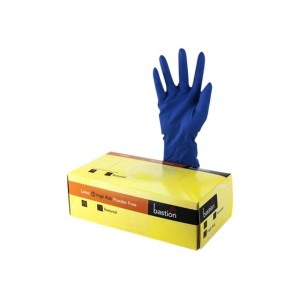 Bastion High Risk Powder Free Glove Blue M Box 50
