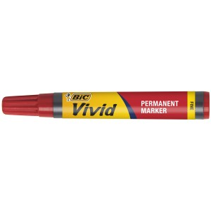 Stephens Vivid Permanent Marker Fine 1.0mm Red Box 12