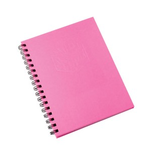 Spirax 511 225X175mm 200Pg Side Opening Hard Cover Notebook Pink