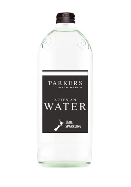 Parkers Water 1 Litre Glass Bottle Sparkling Case 12 Bottles