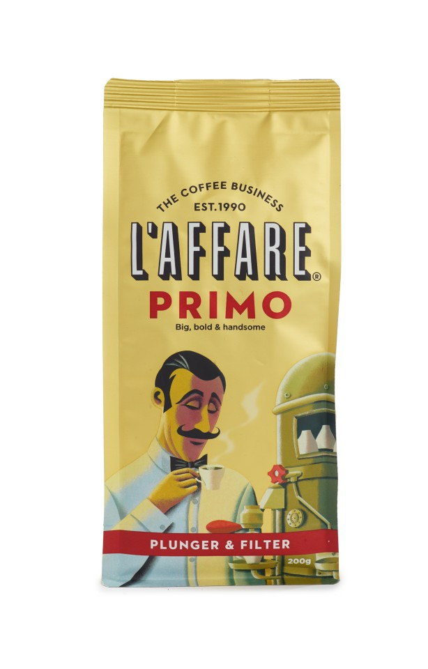 L'affare Primo Plunger & Filter Ground Coffee 200g