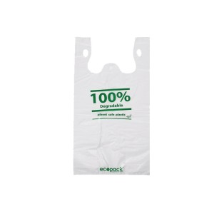 210+130X460mm Degradable Small Carry Bag Pkt1000