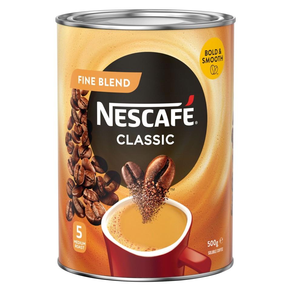 Nescafe Fine Blend Instant Coffee Tin 500g