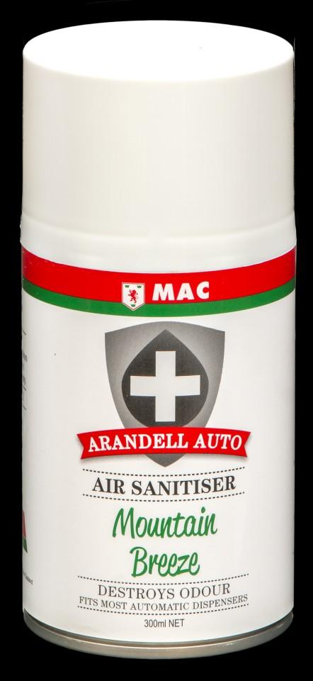 Mac Arandell Auto Air Sanitiser Spray Mountain Breeze 300ml ARANMO3A Carton of 12