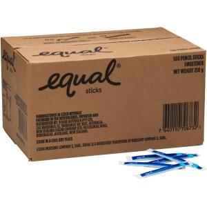 Equal Sweetener Single Serve Pencil Sticks Carton 500