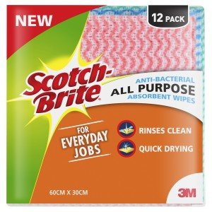 Scotch-Brite Anti-bacterial Wipes Pkt 12