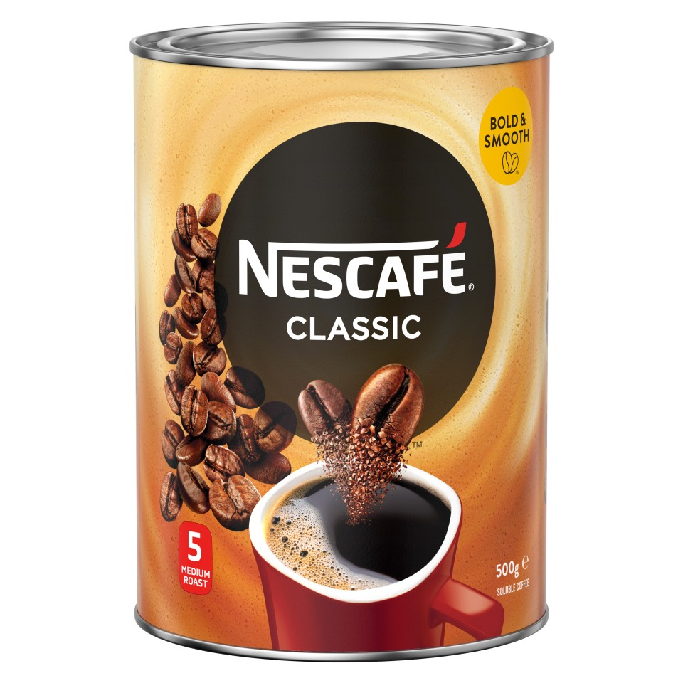 Nescafe Classic Granulated Instant Coffee Tin 500g