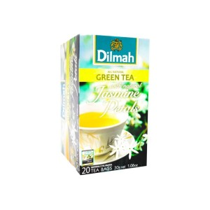 Dilmah Jasmine Green Tea Foiled Enveloped Tagged Tea Bags 20s