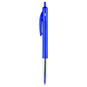 BIC Clic Medium Ballpoint Pen Retractable 1.0mm Blue Box 10