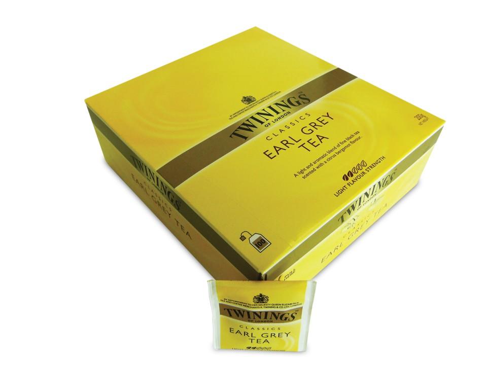 Twinings Earl Grey Envelope Tea Bags Box 100