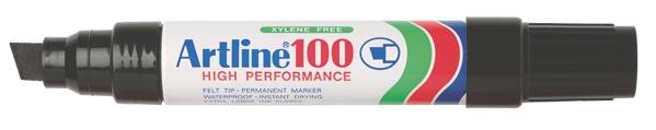 Artline 100 Permanent Marker Broad Chisel Tip 7.5-12.0mm Black