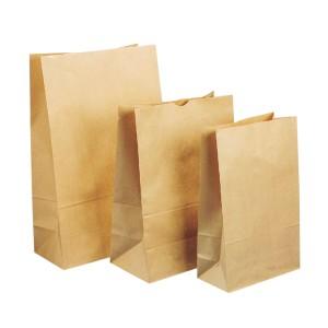 205X125X445mm Size 5 Block Bottom Paper Bag Pkt200